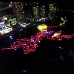 鳳凰文化主題音樂水舞噴泉表演