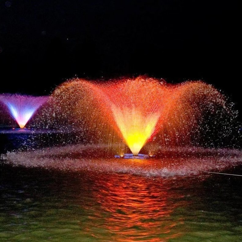 floating fountain with led lights